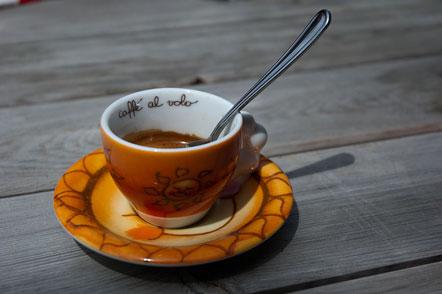 Ein schneller Kaffee auf der Haselburg