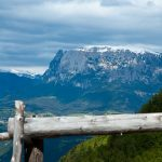 Der Schlern vom Bergdorf Seit aus gesehen