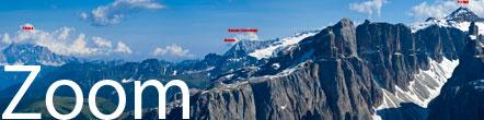 Zoom Foto Dolomiten mit gewaltiger Auflösung (Breite 25.000 Pixel).