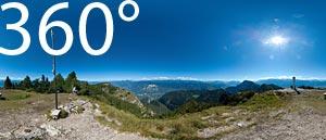 ...und auch auf das Südtiroler Unterland.