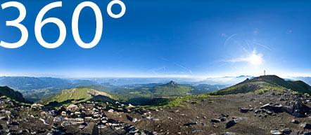 360° am Schwarzhorn: Blick auf das Südtiroler Unterland