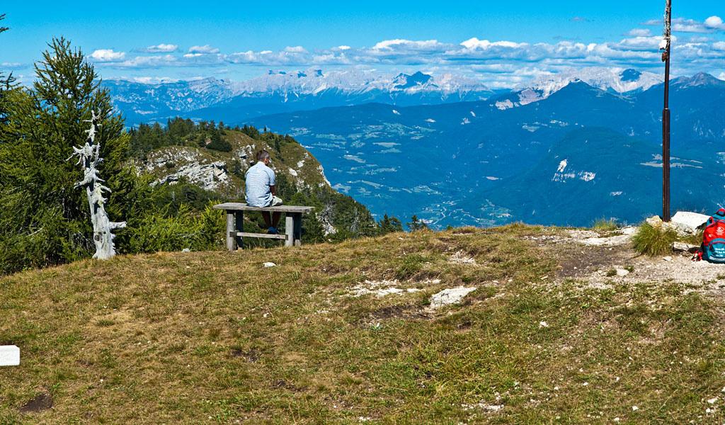 Am Tresner Horn mit Blick auf die Südtiroler Dolomiten