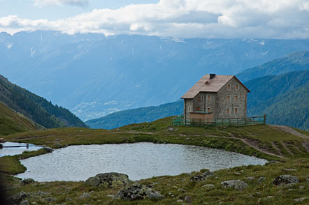Pforzheimer Hütte auf dem Sesvenna Pass