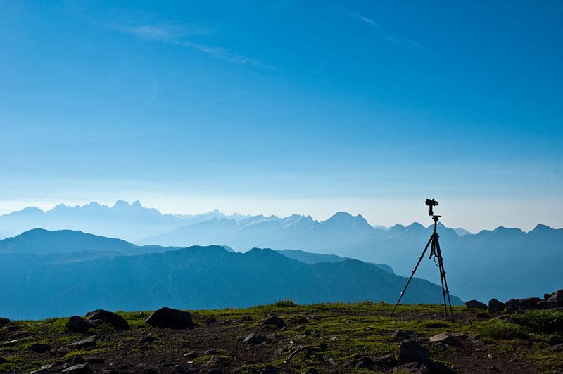 Auf dem Gipfel des Schwarzhorn