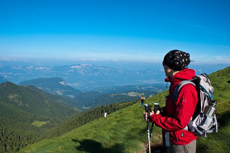 Panorama beim Wandern in Südtirol