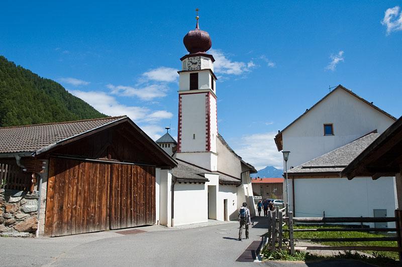 Im kleinen Ort Schlinig im Vinschgau