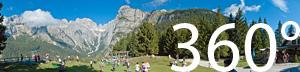 Blick auf die Berggipfel des Naturpark Adamello Brenta