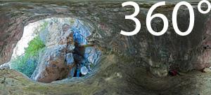Einstieg in die Klamm des Burrone Giovanelli Klettersteigs bei Mezzocorona