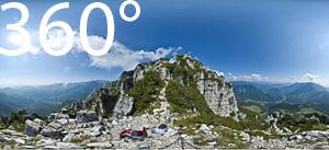 360° im Klettersteig Gaetano Falcipieri