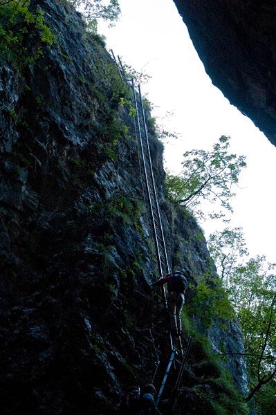 Burrone Klettersteig bei Mezzocorona