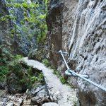 Seilsicherung im Burrone Klettersteig