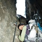Leiter im Burrone Klettersteig