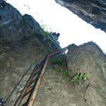 Schlüsselstelle im Burrone Klettersteig