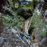 Leitern im Burrone Klettersteig