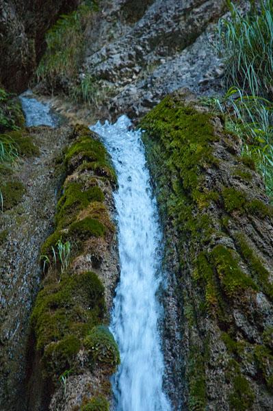 Wasserfall im Burrone Klettersteig