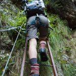 Klettern im Burrone Klettersteig