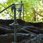 Sicherung im Burrone Klettersteig