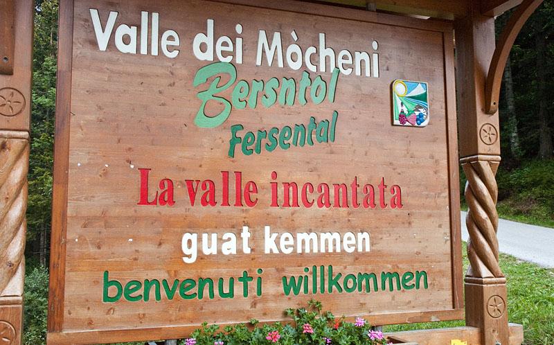 wandern im Fersental (Bersntol, Valle dei Mòcheni)