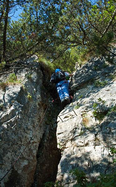 Klettersteig Gaetano Falcipieri Kamin