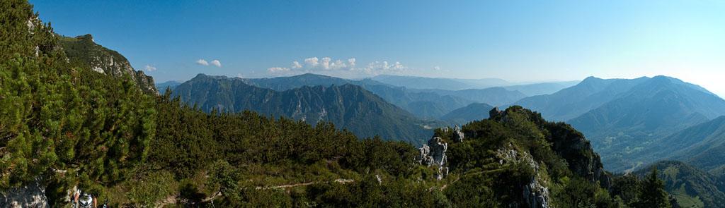 Ausblick vom Klettersteig