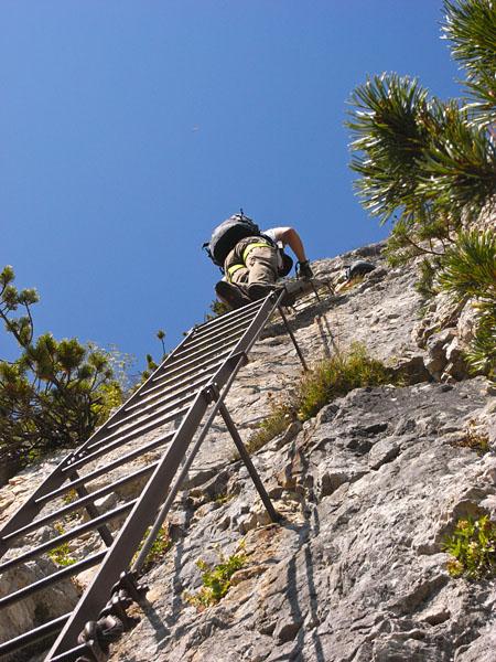 Klettersteig Gaetano Falcipieri Leiter