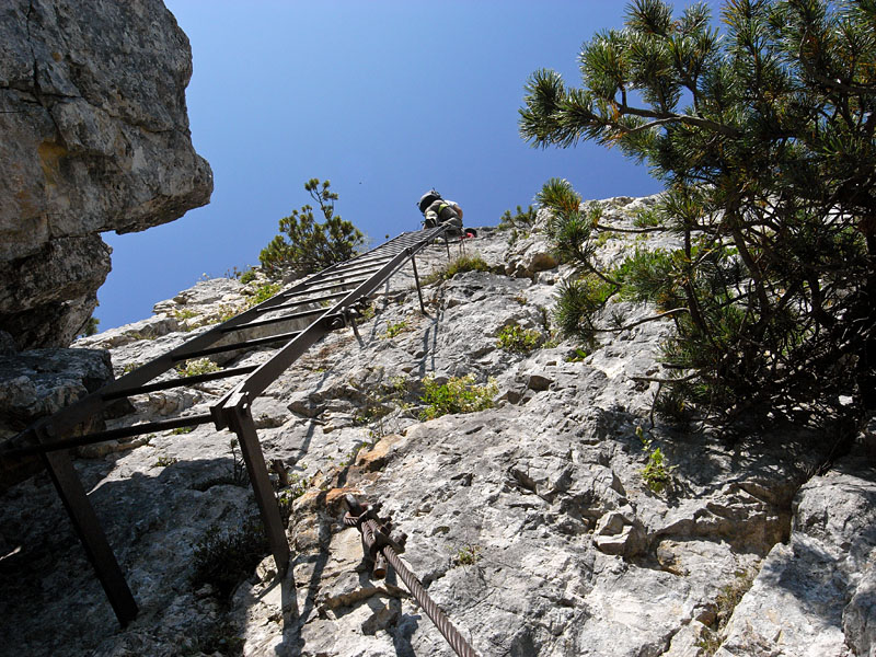 Hoch hinaus im Klettersteig Gaetano Falcipieri