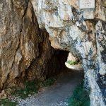 Tunneleinstieg auf der Strada delle 52 Gallerie
