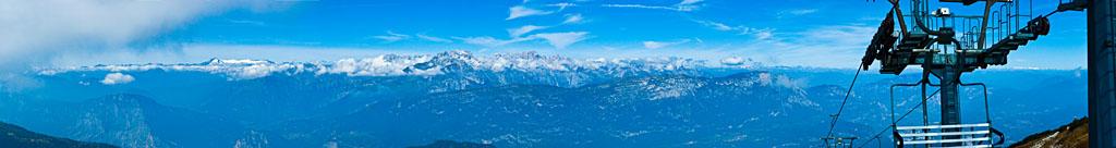 Panorama der Brenta Dolomiten