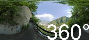360° Foto: über di Gaulpromenade in die Gaulschlucht