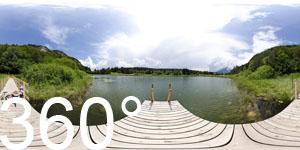 360° auf dem Steg des Fennberger See