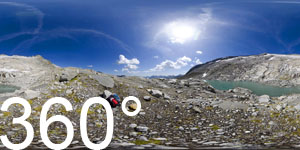 """""""Auf dem Wasserboden"""" so bezeichnet das digitale Wandernetz Südtirols den kleinen Gletschersee am Hang des Hohen Weißzint."""