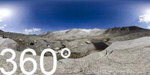 Im Kessel unter dem Möseler Gletscher (Neves Gletscher)