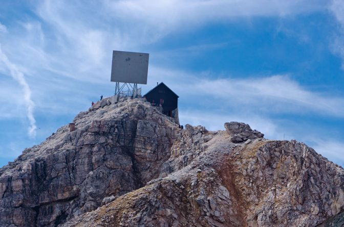 Der Gipfel des Piz Boè auf über 3.000 m über dem Meeresspiegel.