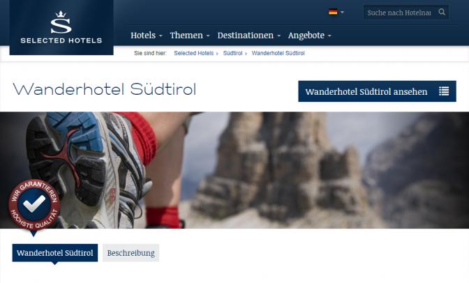 Ausgewählte Südtiroler Hotels