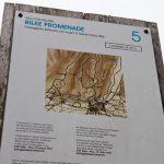 Hinweisschild Rilke Promenade
