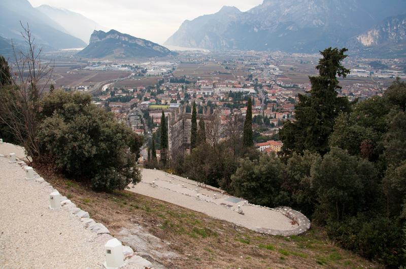 Blick auf Arco und den Gardasee