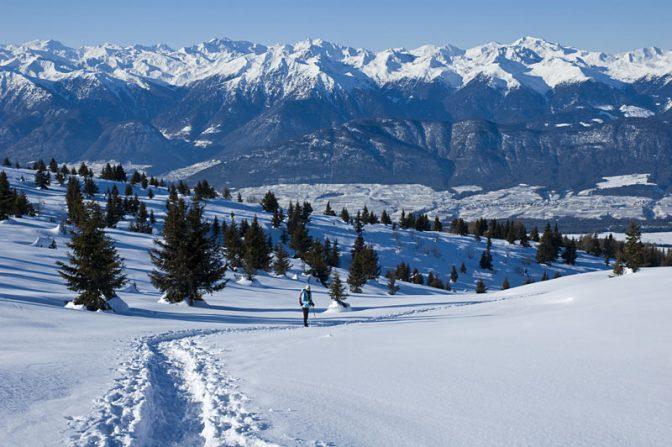 Schneeschuhwandern im Val di Non