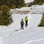 Schneeschuhwanderer Seiser Alm