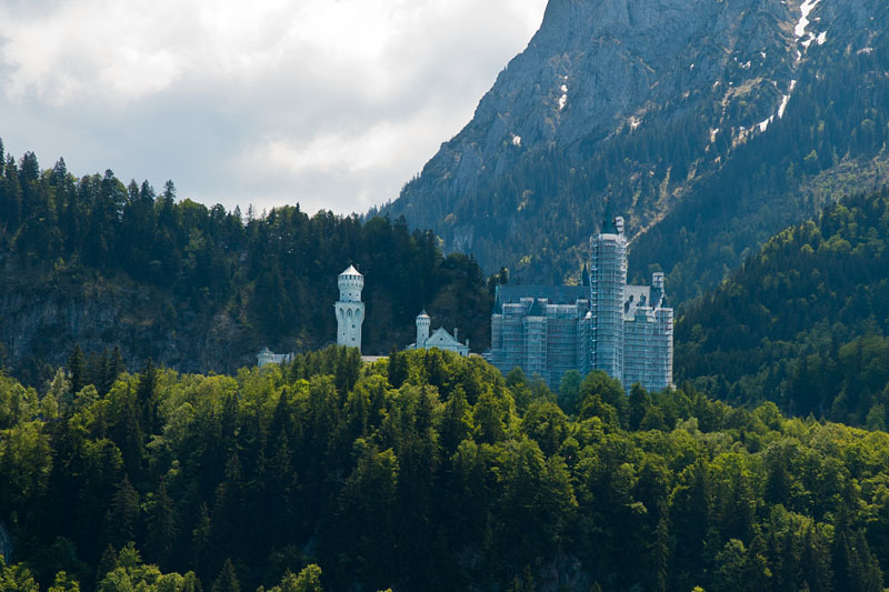Schloss Neuschwanstein eingepackt