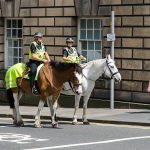 Berittene Polizei Edinburgh Schottland