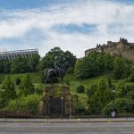 Schottland Edinburgh Queen Street mit Castle