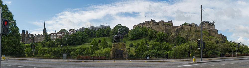 Schottland Edinburgh Queen Street mit Castle