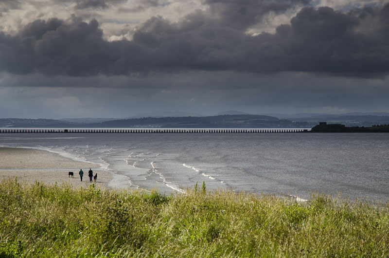 Cramond Island bei Edinburgh in Schottland