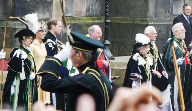 Queen Elisabeth II in Edinburgh