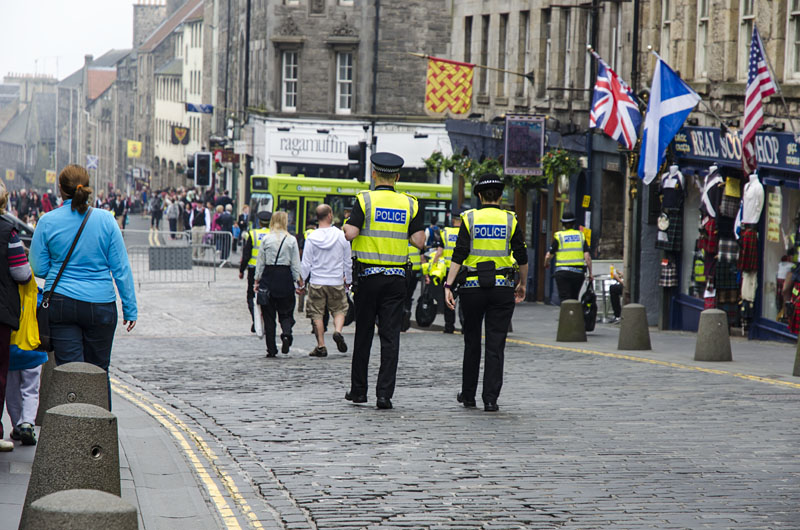 Polizei in Edinburgh