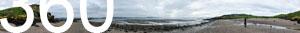 Am Strand der Insel Cramond Island vor der Küste Schottlands bei Edinburgh.