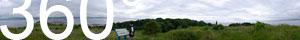 Mitten auf der Insel Cramond Island, die wiederum mitten im Firth of Forth liegt.
