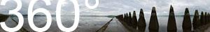 Cramond Island Walk: bei Ebbe kann man über einen betonierten Pfad zur Insel Cramond Island gelangen.