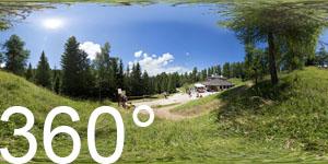 360° Fotos vor der Halbweghütte zwischen Mendelpass und Roen