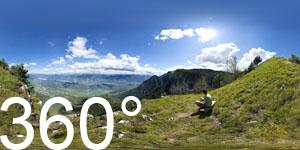 Und noch ein Blick hinunter ins Tal von Bozen über Eppan mit den Montiggler Seen bis nach Kaltern und Tramin